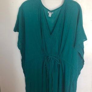 Old Navy turquoise gauze tunic top or swim cover